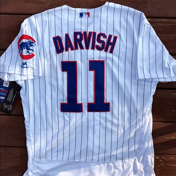 new style 94e01 fb83b Yu Darvish Chicago Cubs Majestic Home Jersey (L) NWT